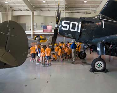 Military AViation Museum - Childrens Network Tour  -  8/4/17